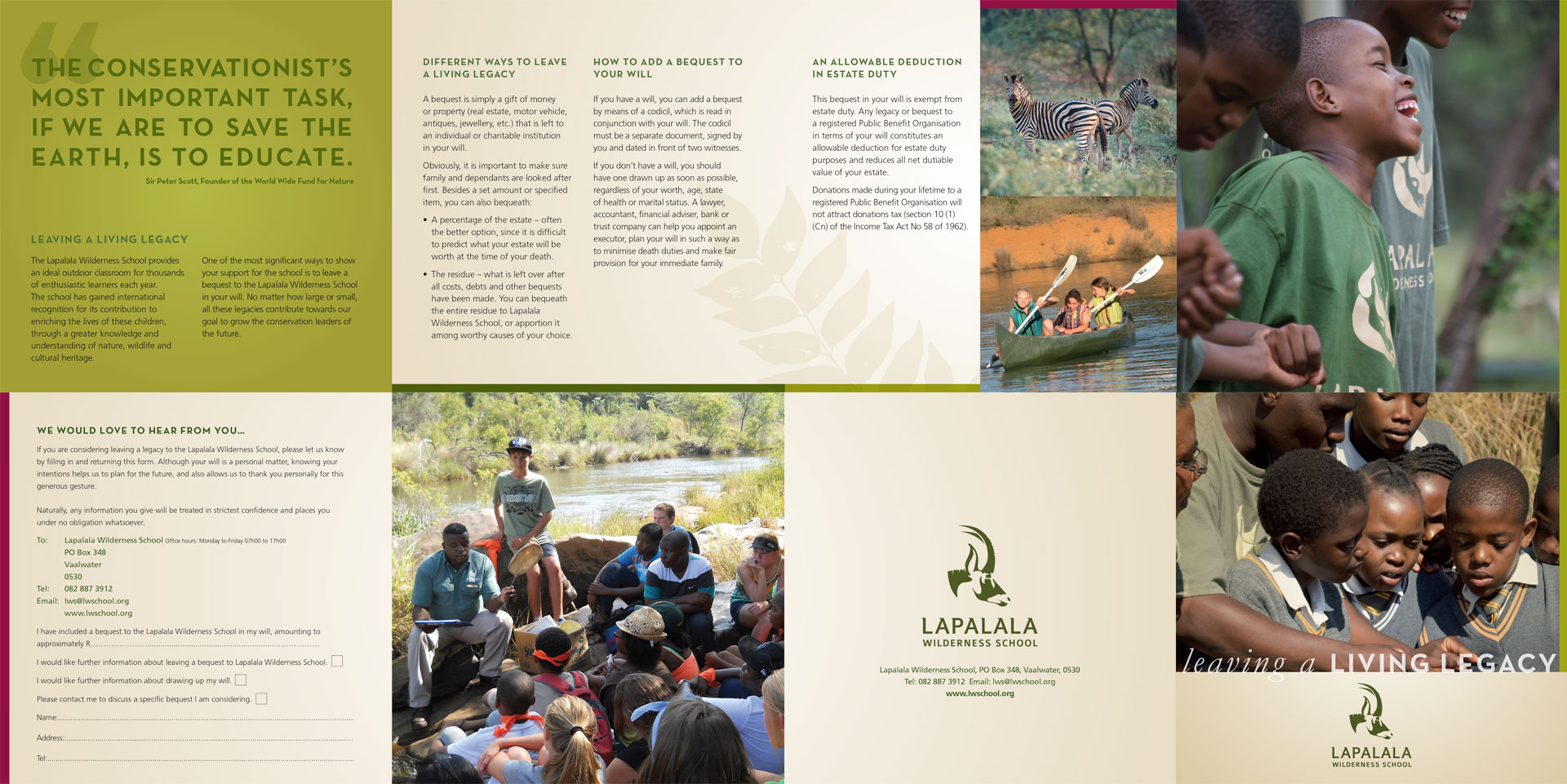Lapalala Wilderness School History